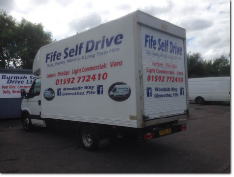 Luton tail lift - Fife van hire